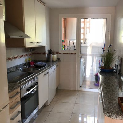 Kitchen equipped for self catering holidays in the sun