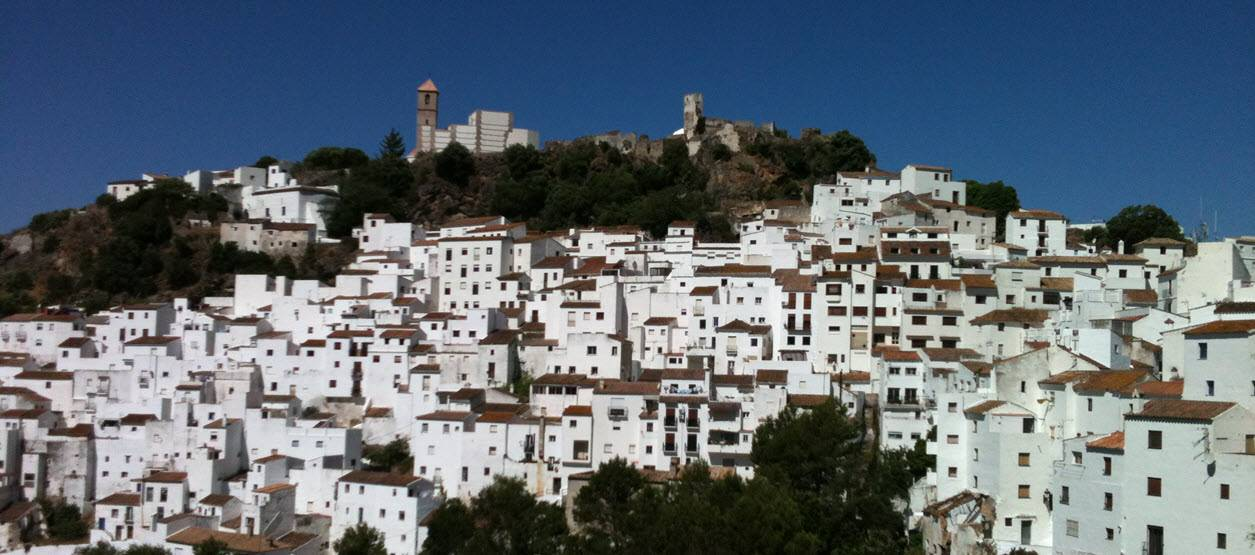 Casares white village in the hills, a short drive from Casares del Sol apartment
