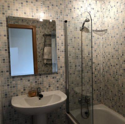 Ensuite bathroom at apartment