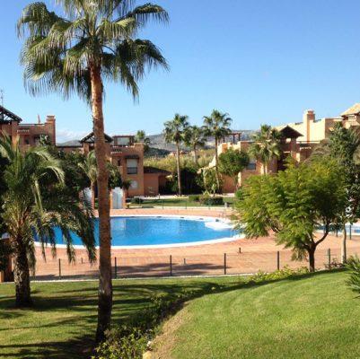 Swimming pools and gardens at Casares del sol